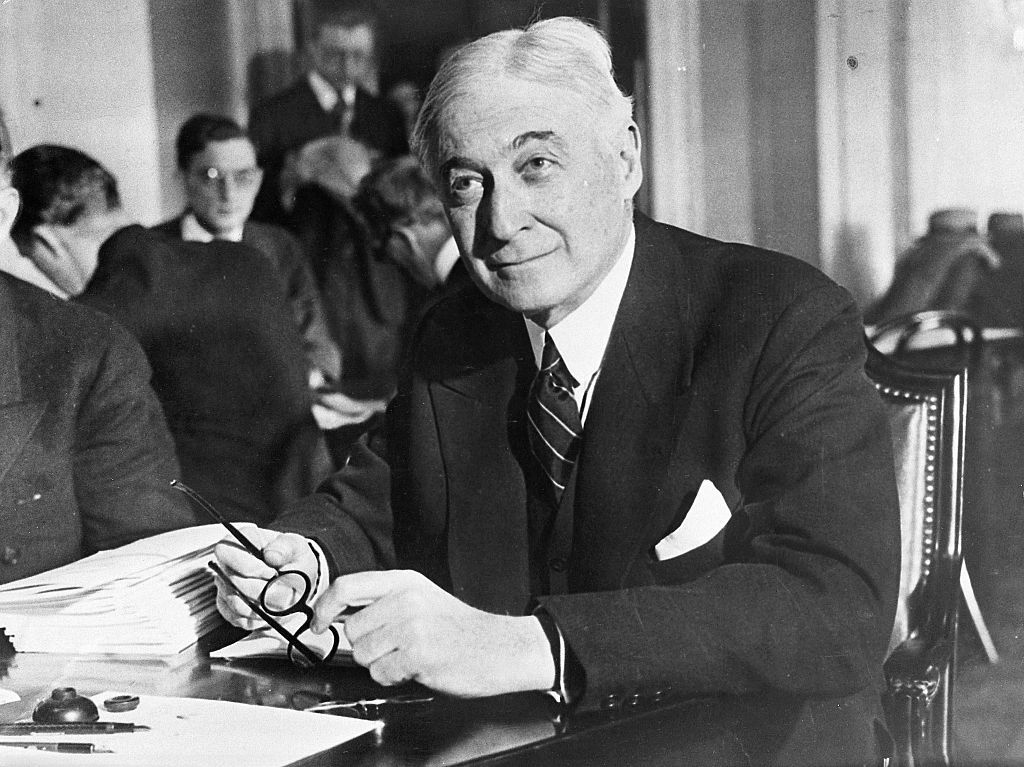 The American financier Bernard M. Baruch (1870-1965).