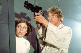 Luke Skywalker rescues Princess Leia