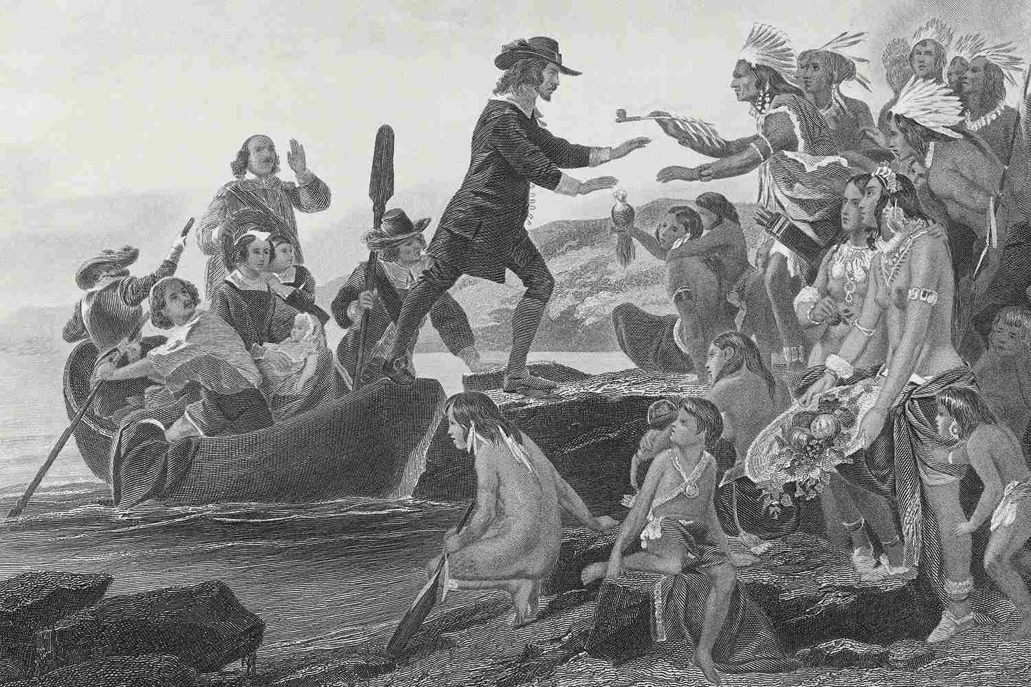 Landing of Roger Williams by Alonzo Chappel, 1636
