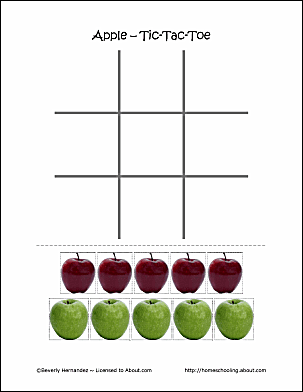 Johnny Appleseed Tic-Tac-Toe