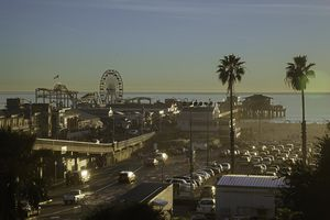 Santa Monica, California, waterfront and pier, overview