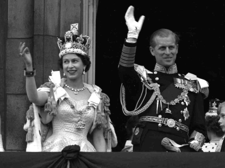 Queen Elizabeth at coronation