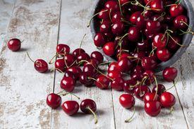 Cherries on wood