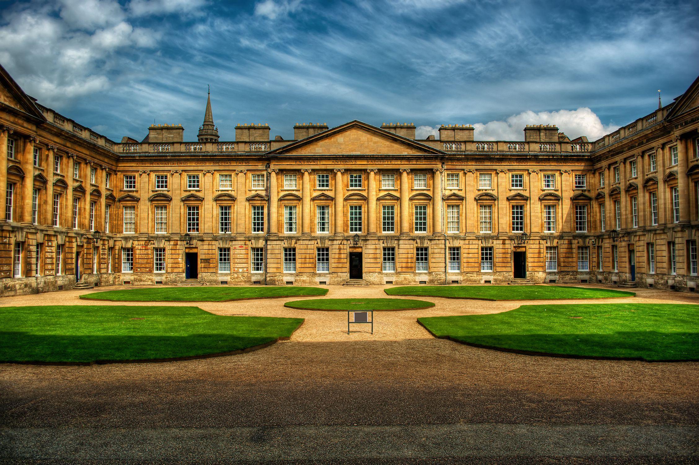 United Kingdom, England, Oxford, Courtyard of Christ Church