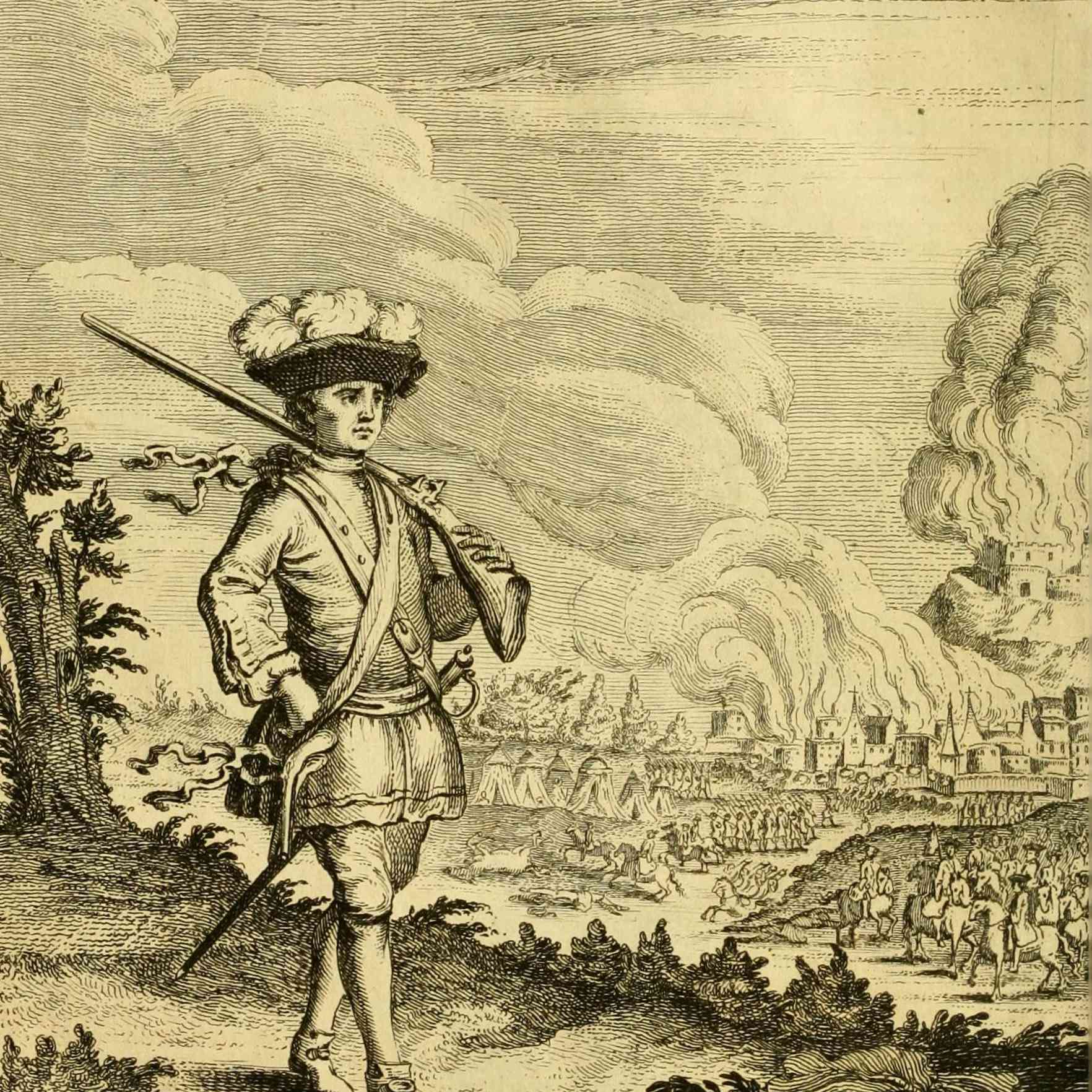 Captain Henry Morgan before Panama, 1671