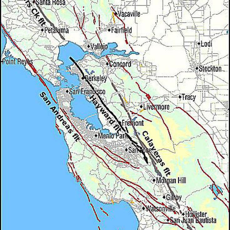 The Hayward Fault of California