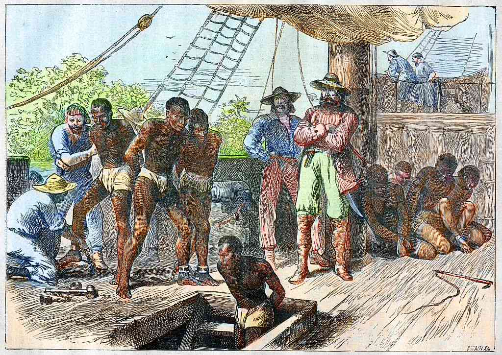 On board a slave ship - the transatlantic trade in African slaves