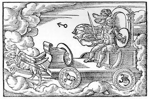 Mars, Roman god of war, 1569, by an anonymous artist