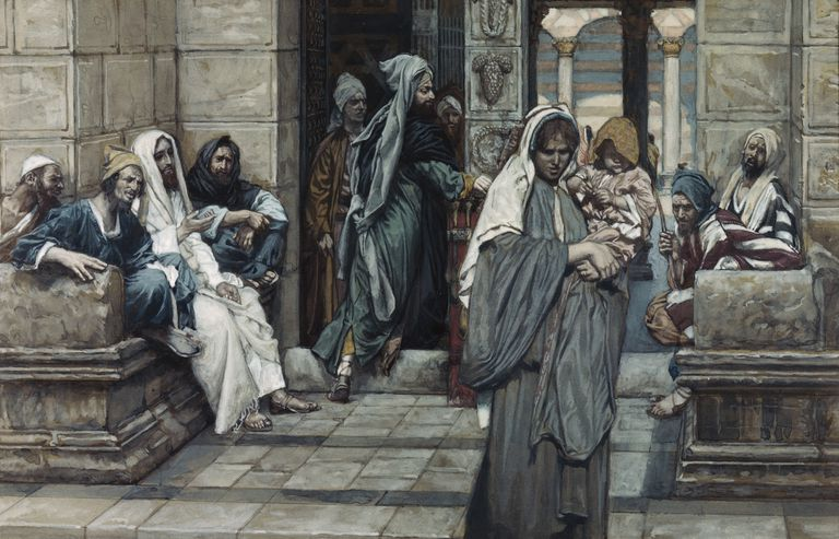 Jesus and the widow