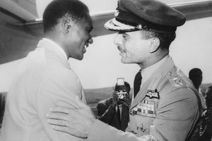 King Hussein and Ahmed Sekou Toure