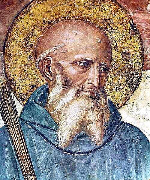 A detail of Benedict from a fresco in San Marco, Florence