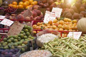 Outdoor market in Tuscany, Italy