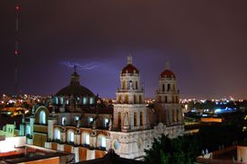cathedral in Puebla, Mexico, for article on future tense of Spanish