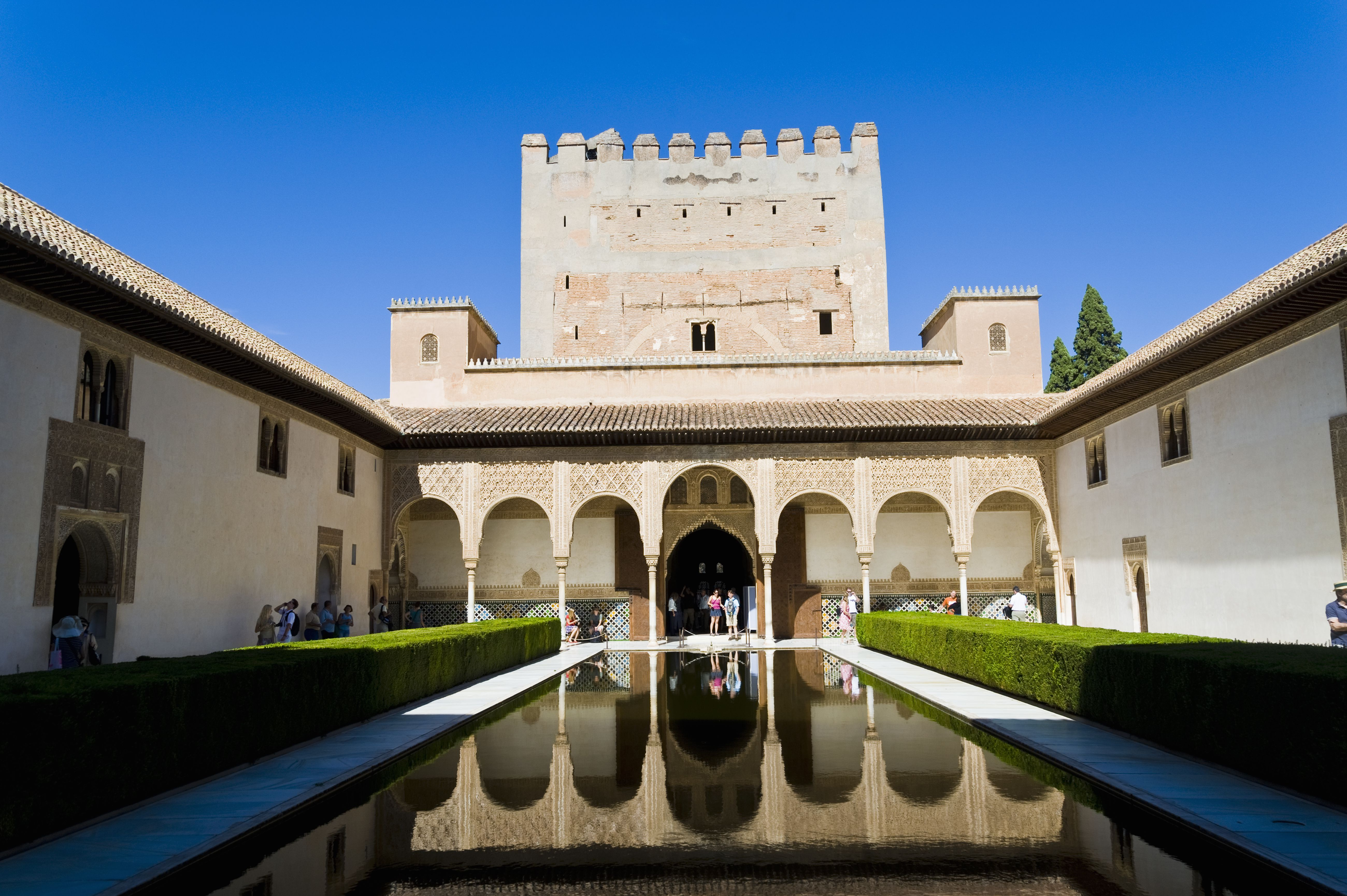 Alhambra Palace, the Red Castle, in Granada, Spain.