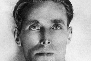 Joe Hill black and white close up photograph.
