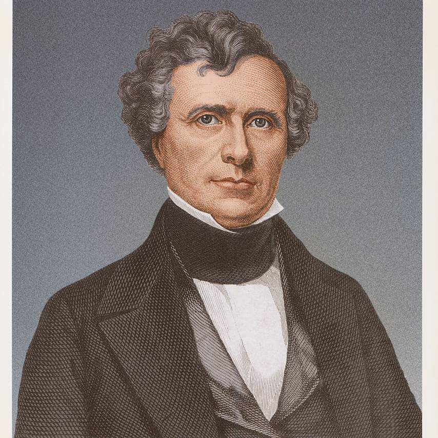 Painting of Franklin Pierce, fourteenth president of the United States