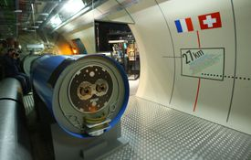 A model of the Large Hadron Collider (LHC) tunnel