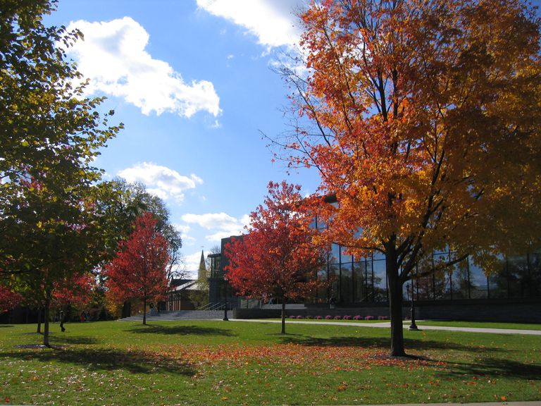 Autumn on Lafayette College campus