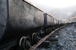 Train in coal mine