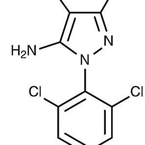 This is the chemical structure of fipronil.