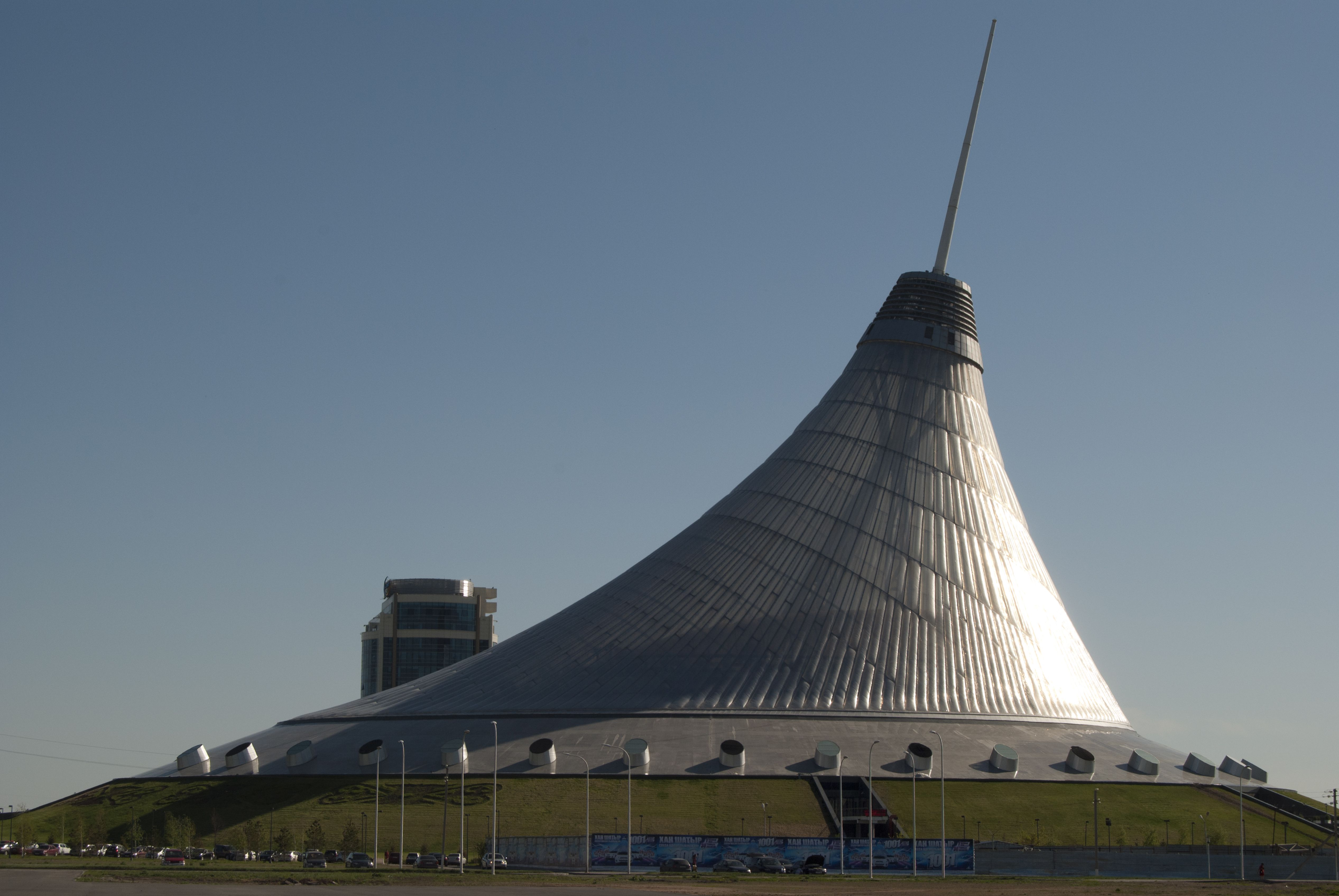Khan Shatyr Entertainment Center designed by Norman Foster in Astana, the capital city of Kazakhstan