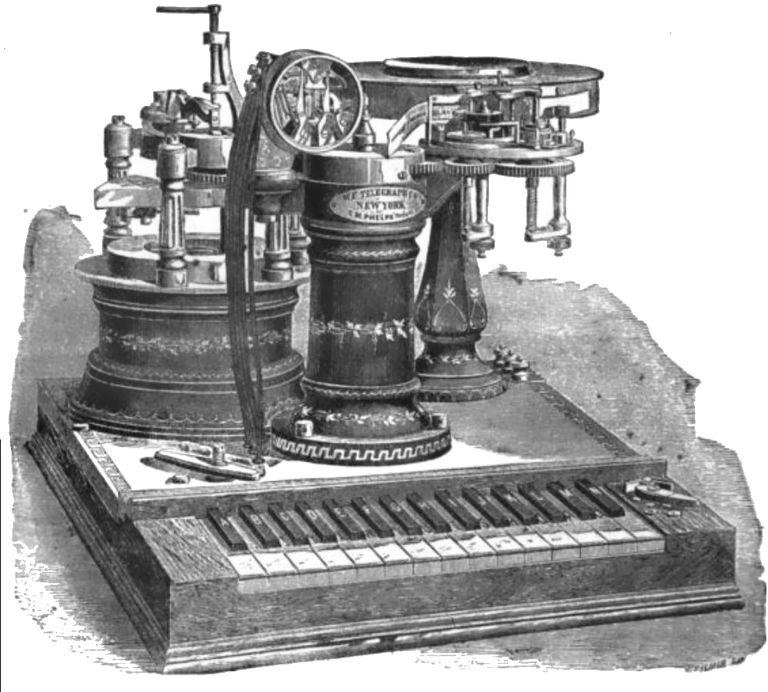 Phelps electro-motor printing telegraph system