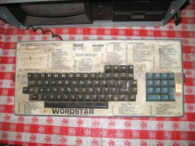 KayPro WordStar keyboard template.