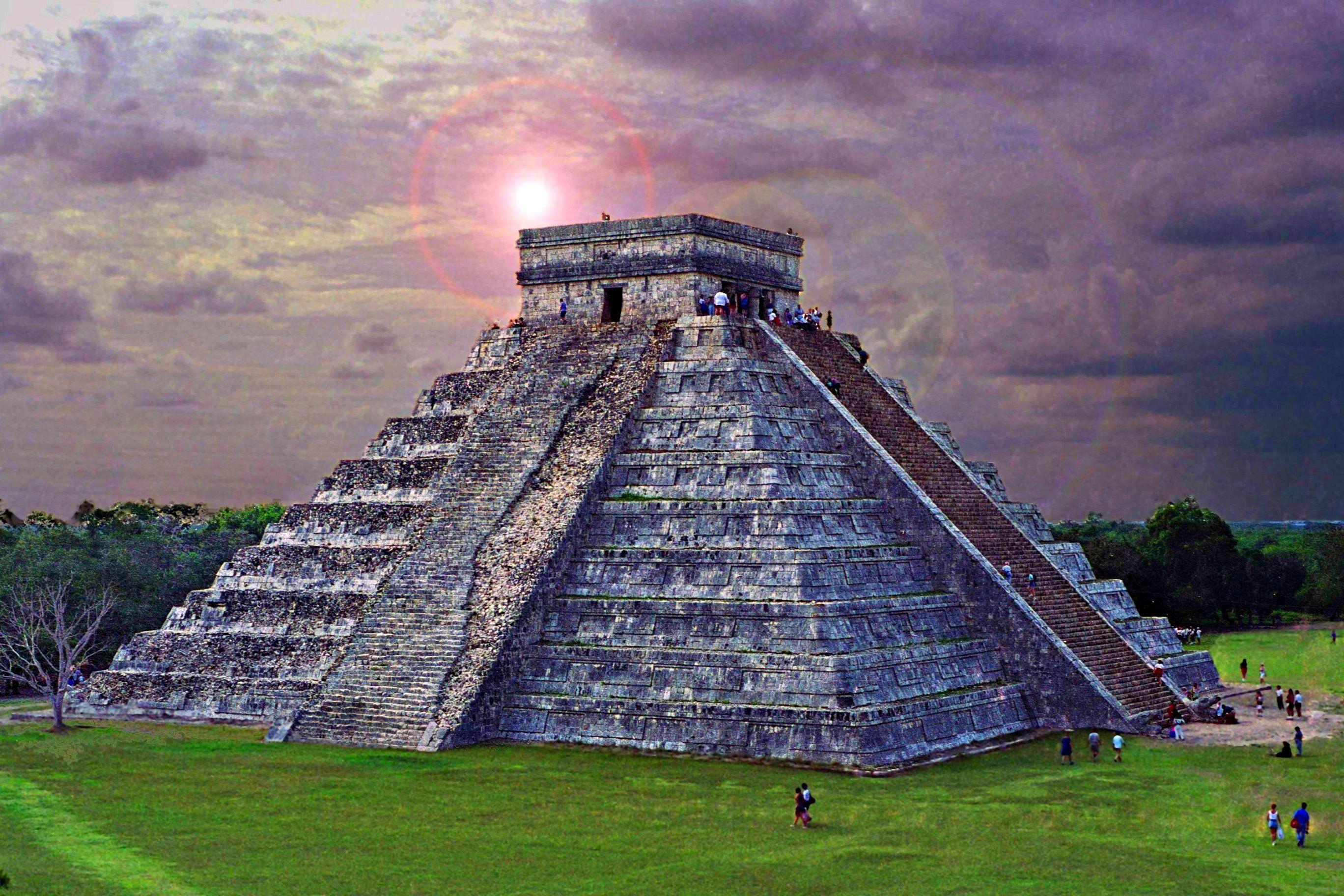 Zona arqueológica de Chichen Itzá en Yucatán.