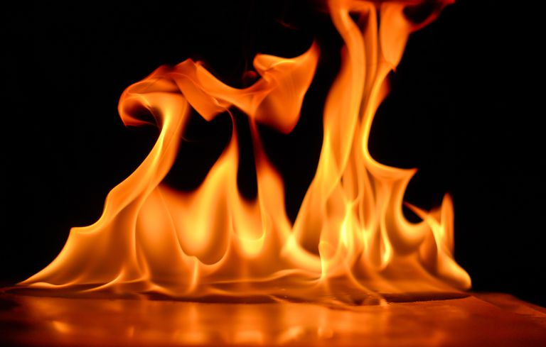 Close-Up Of Flames