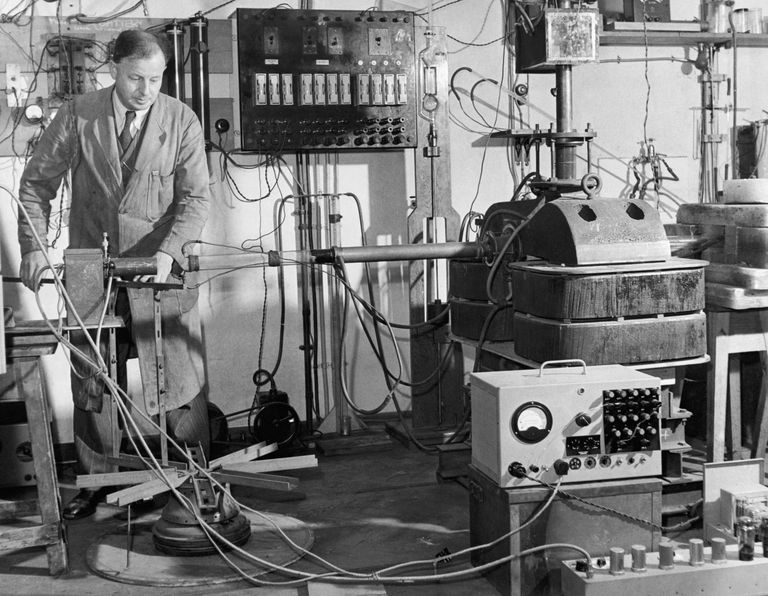 The Cavendish Laboratory at the University of England is a research lab where scientists performed transmutation experiments