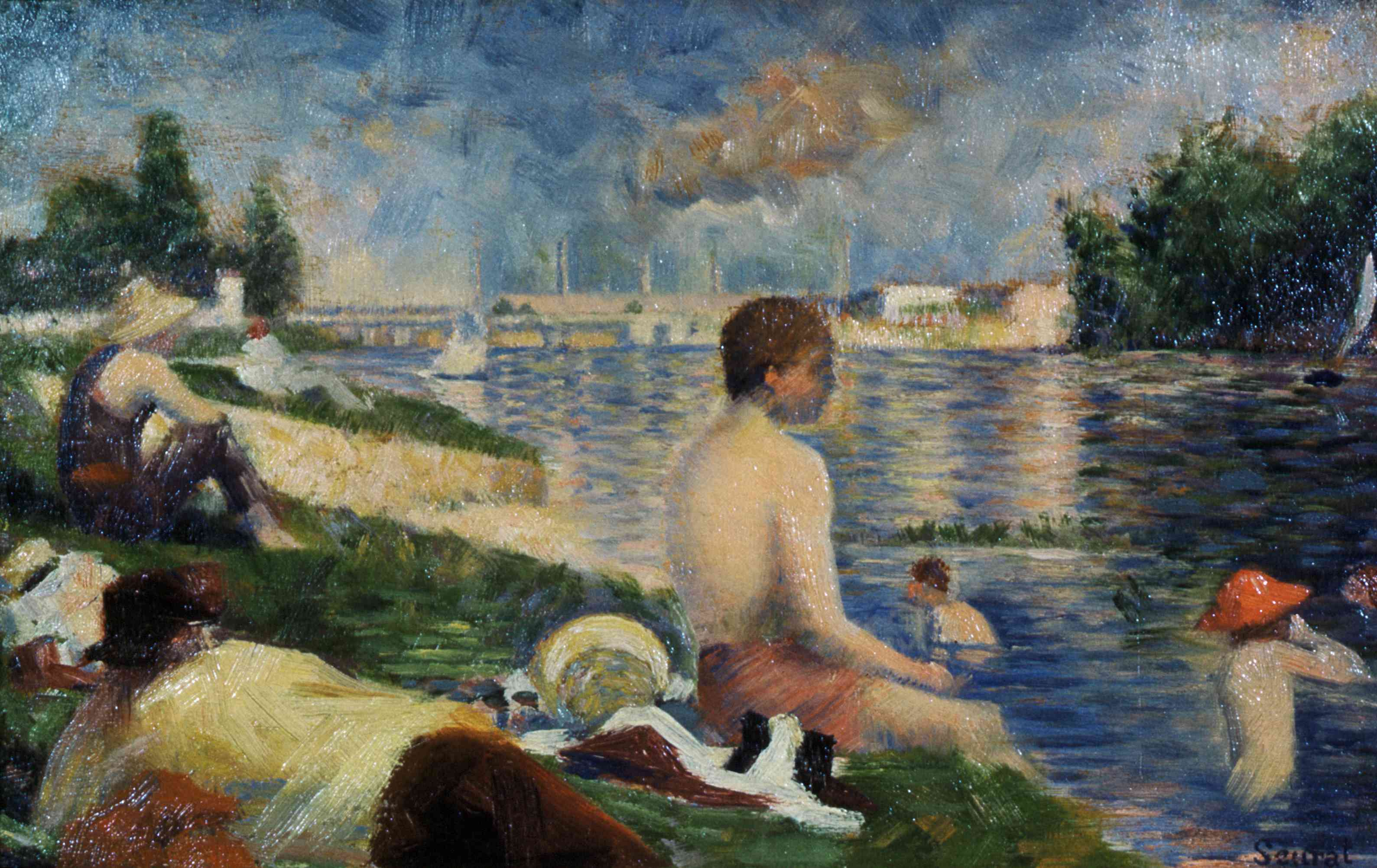 Final Study for Bathers at Asnieres by Georges Seurat
