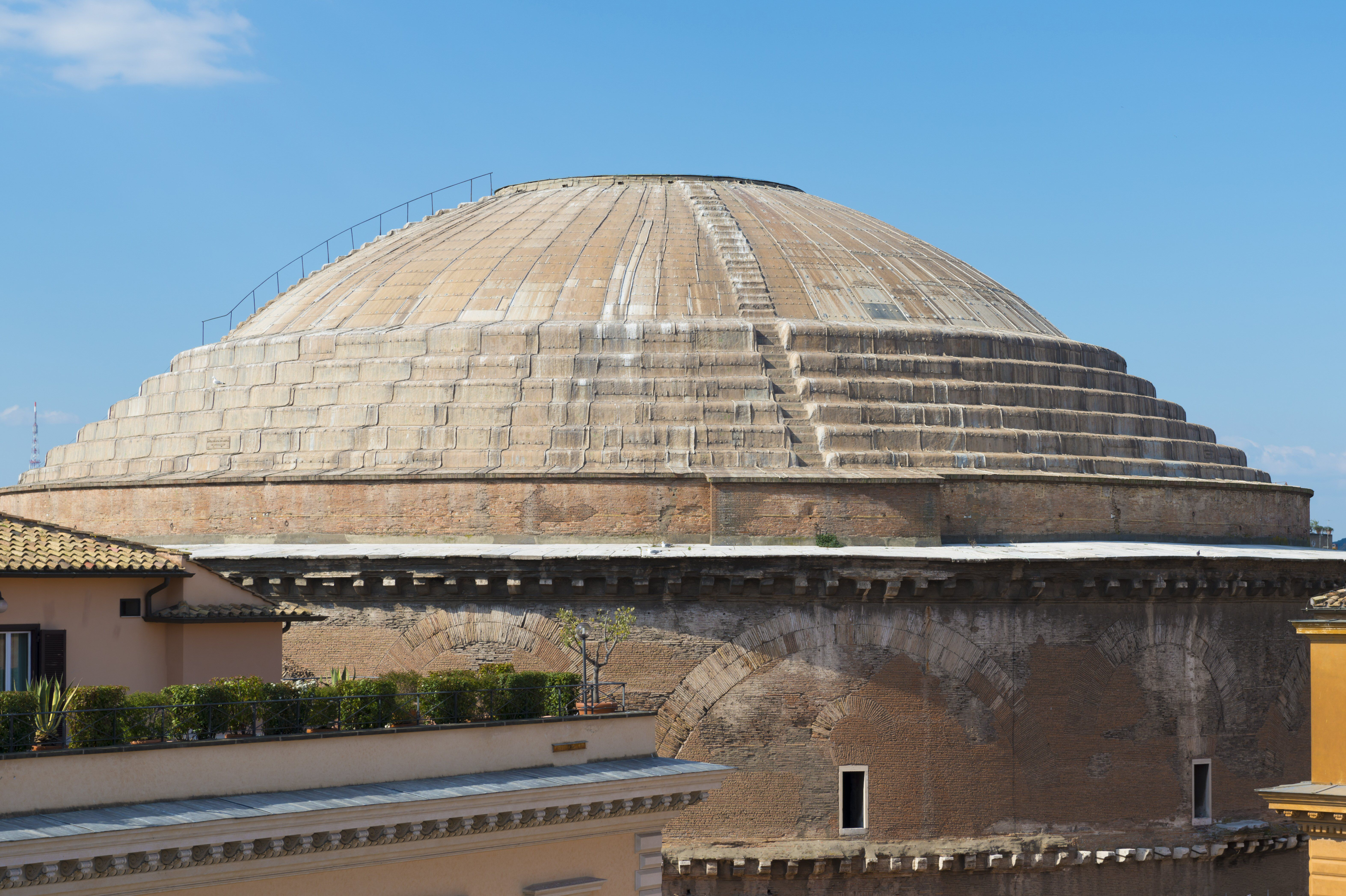 massive concrete dome with steps on the dome