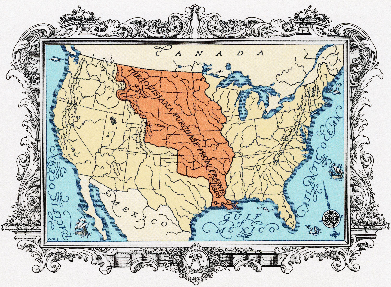 Sogar Thomas Jefferson war vom Kauf in Louisiana überrascht