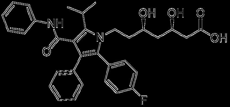 Lipitor (Atorvastatin)is a drug that is used to lower blood cholesterol levels.
