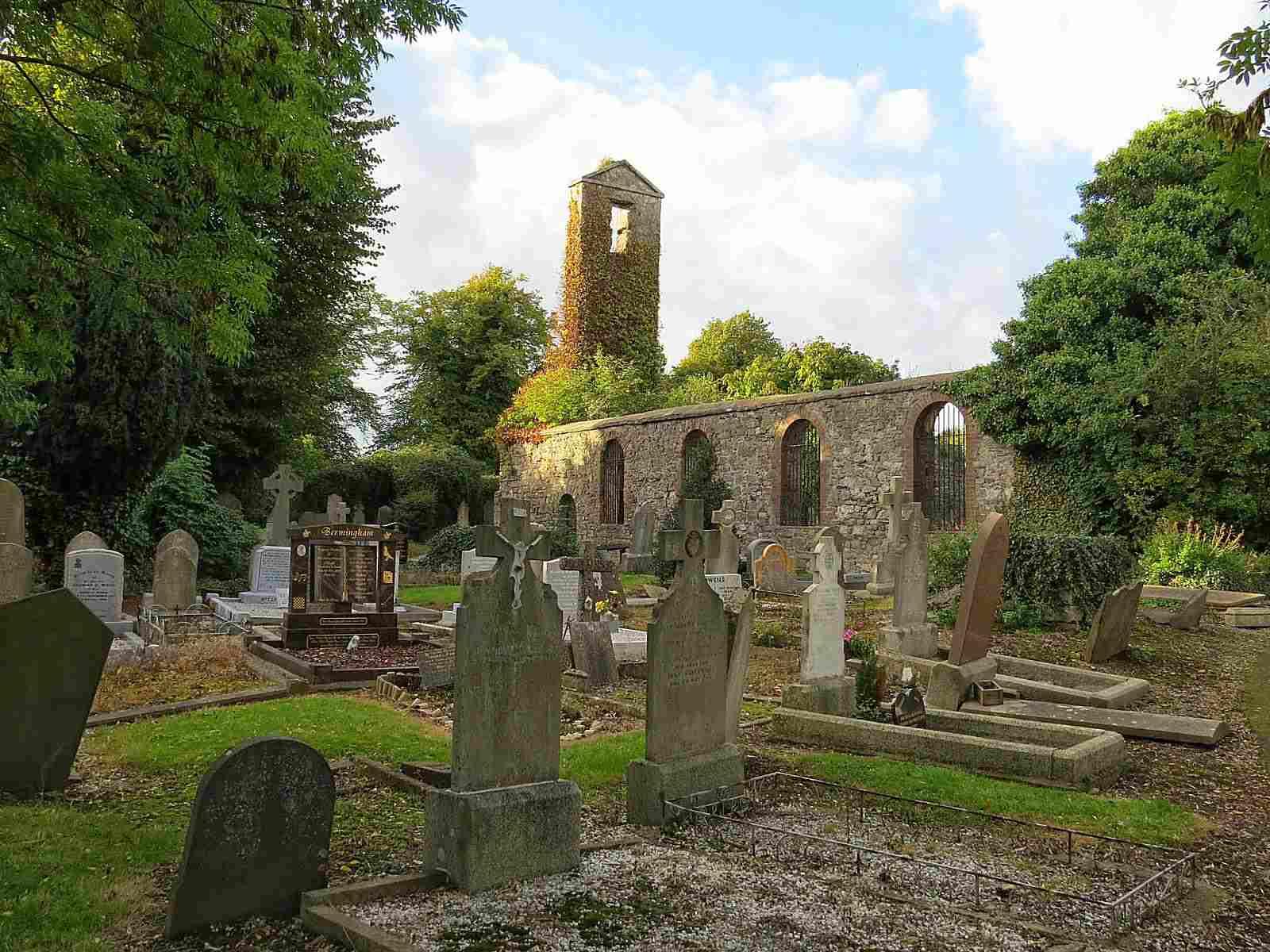 Clontarf cemetery, also known as St. John the Baptist cemetery, in Dublin.