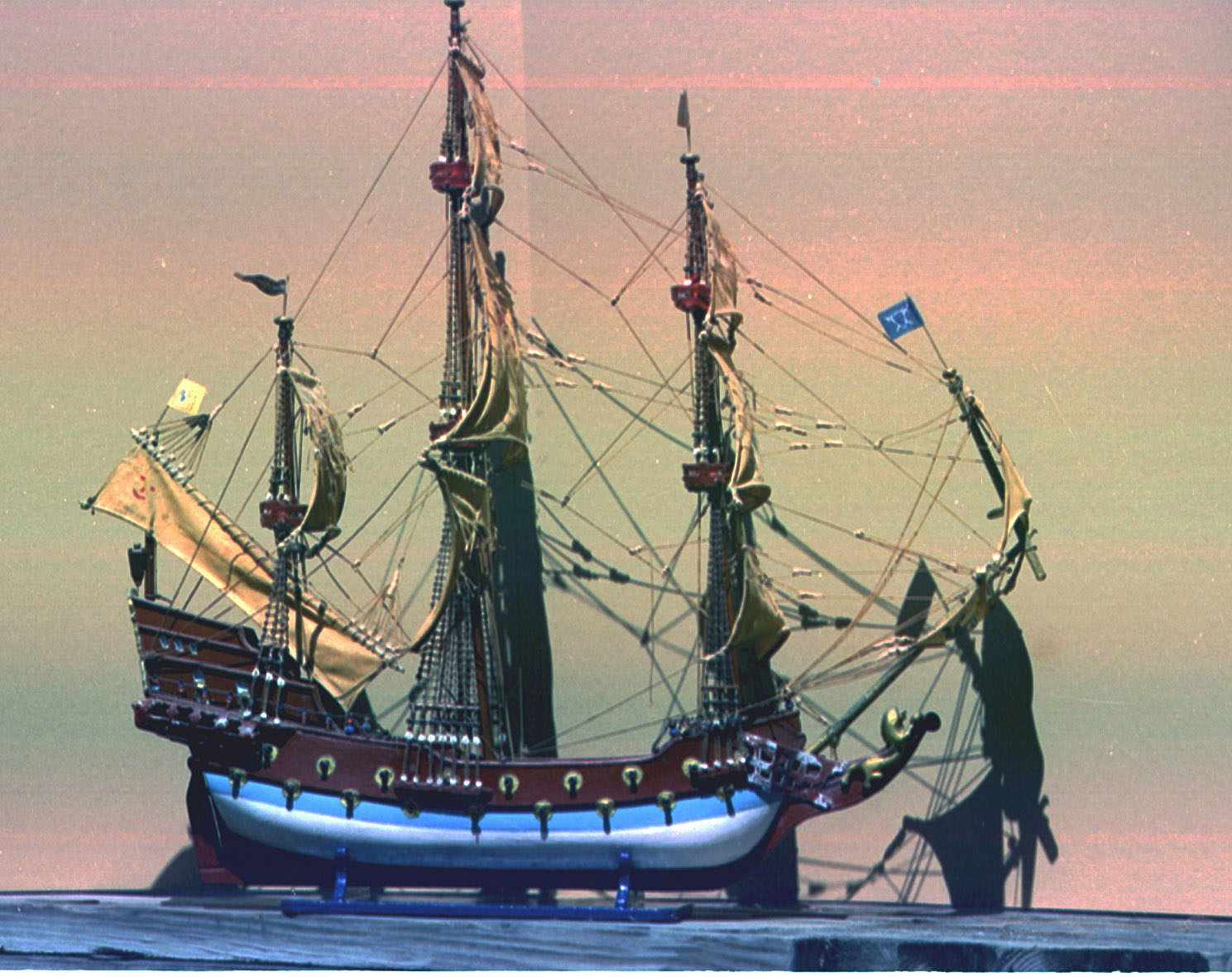 Model Of Queen Ann's Revenge Blackbeard The Pirate's Flagship On Display At The Maritime Research