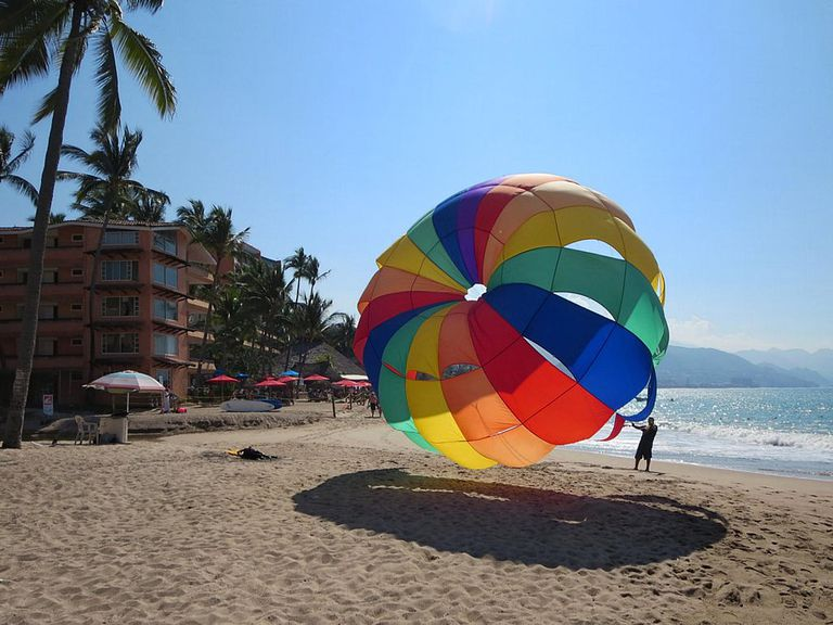 parasail in Puerto Vallarta, Mexico
