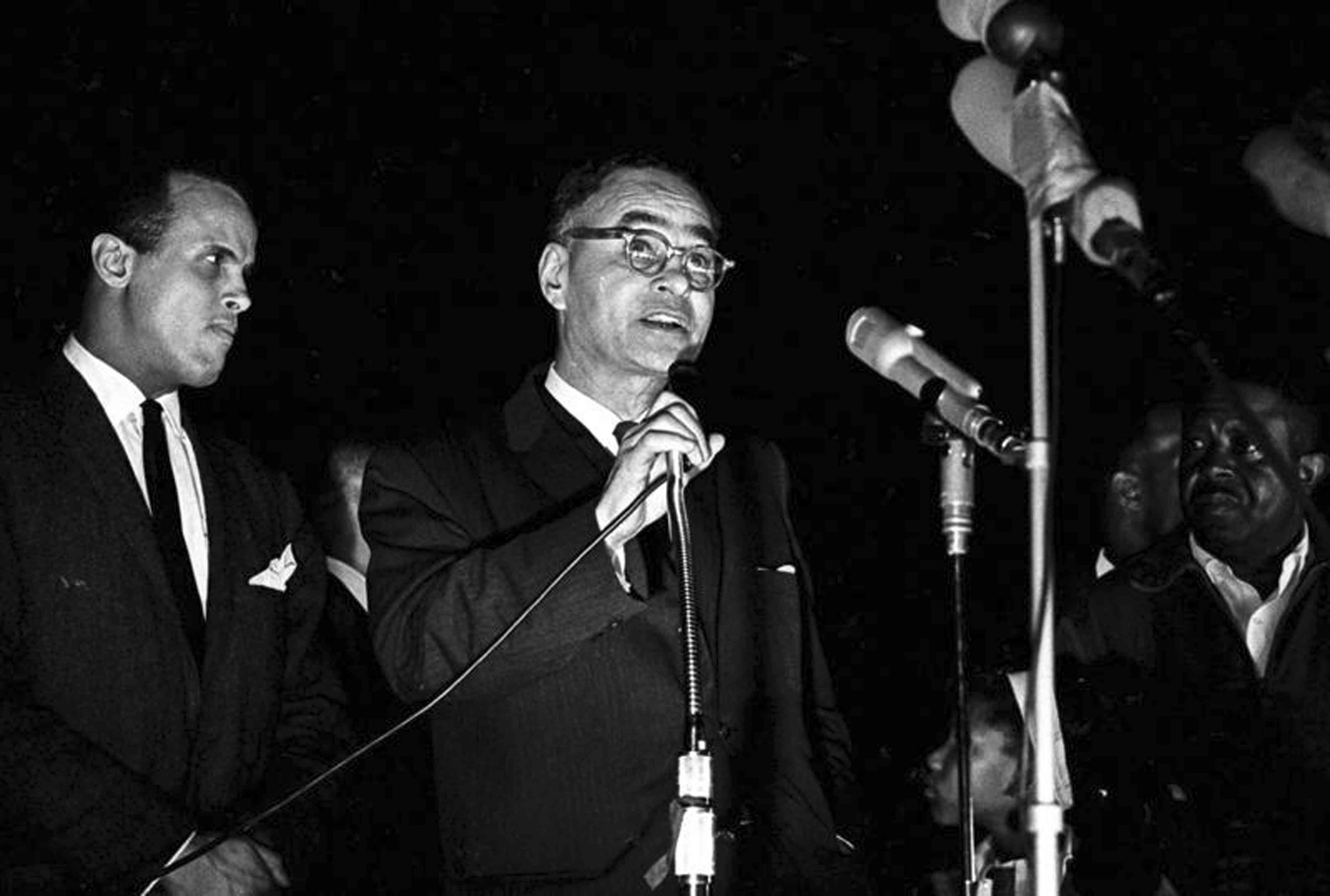Ralph Bunche At 'Stars for Freedom' Rally