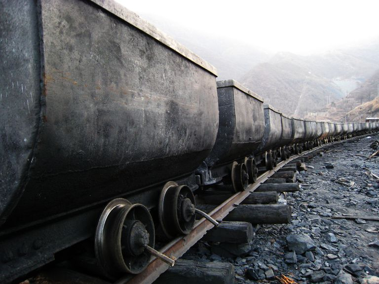 Train in coal mine