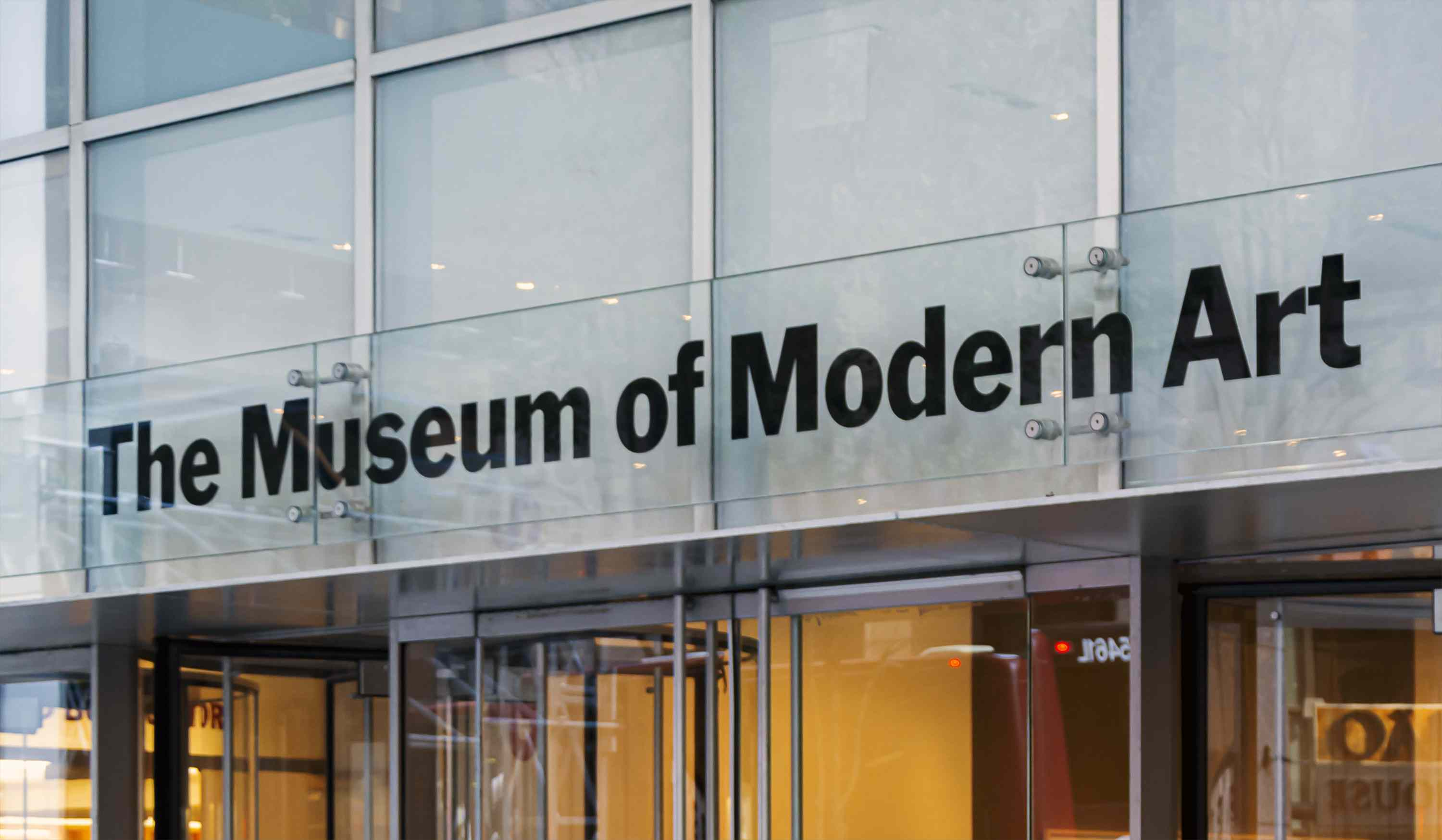 Main entrance of the Museum of Modern Art