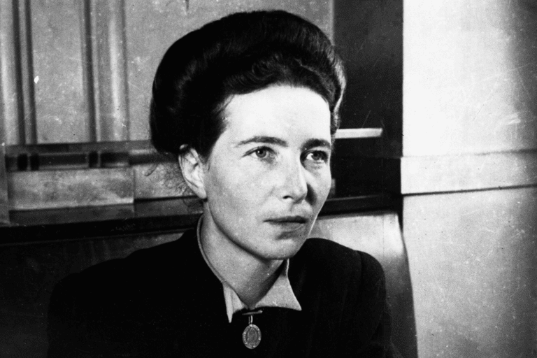 Portrait of Simone de Beauvoir