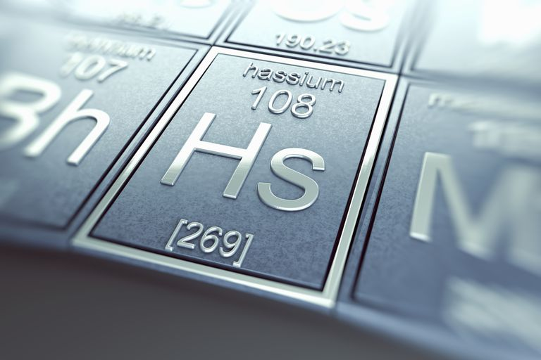 Hassium is a man-made radioactive metal.