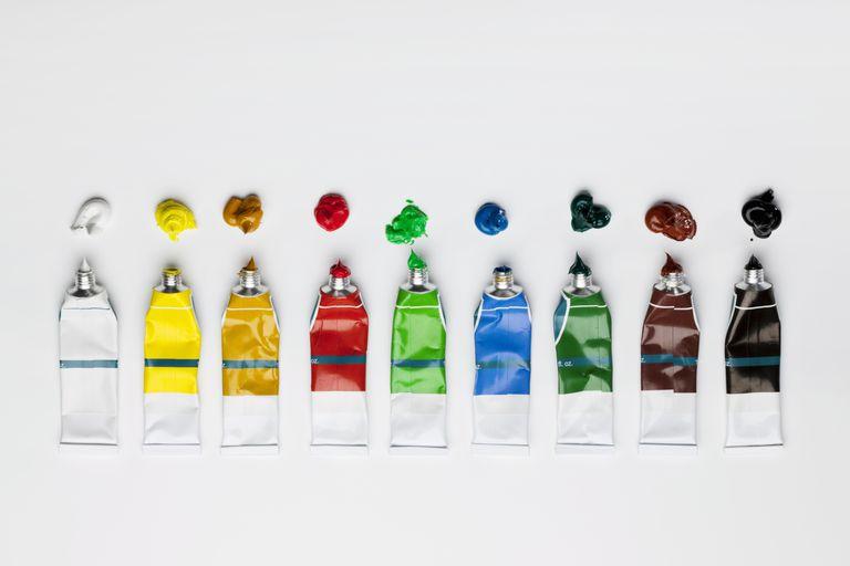 A Row Of Oil Paint S
