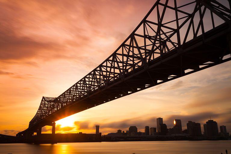 New Orleans Skyline at Sunset, Louisiana