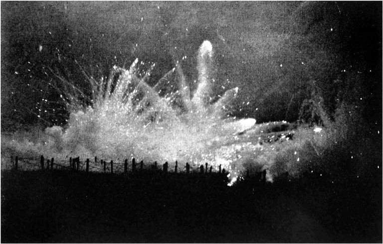 German Barrage Fire at Night