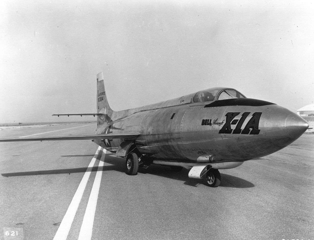 Bell X-1A parked on a runway.