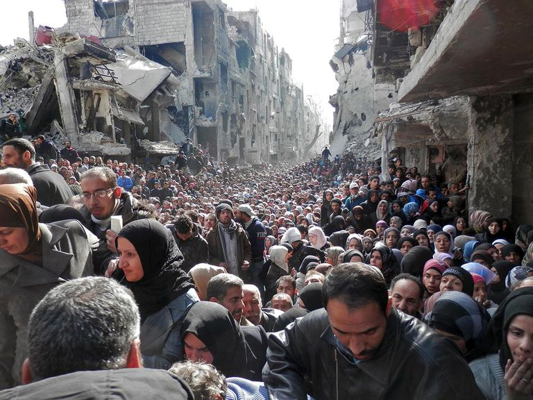 UNRWA Humanitarian Distributions in Yarmouk