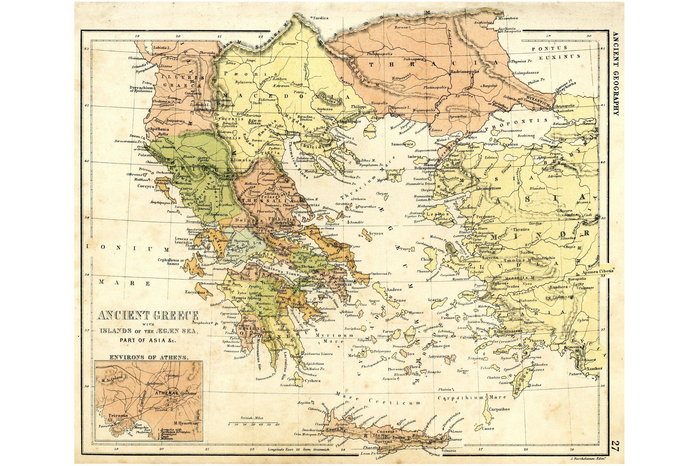 Karte des antiken Griechenland