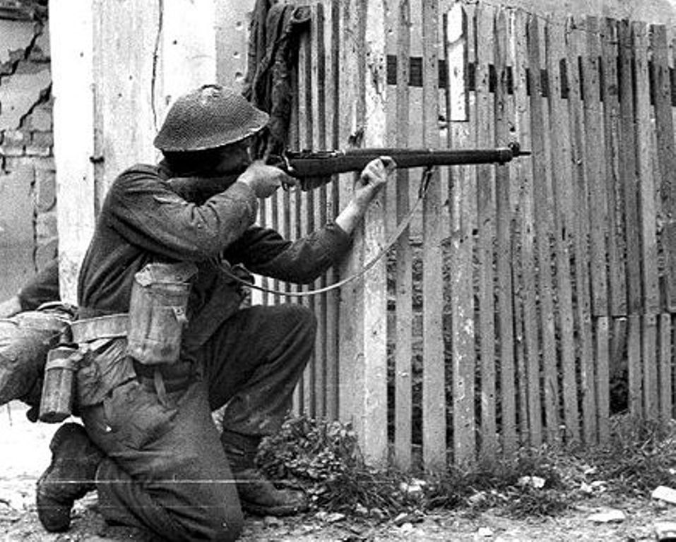 Image result for ww2 British soldier with rifle
