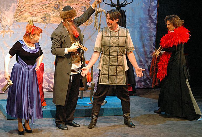 Purim spiel performance at The Jewish Theatre in Warszawa, Poland in March 2009.